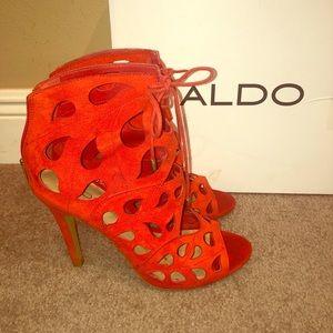 Red Orange Aldo Dellarocca Heels